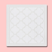 Quatrefoil - Bakery Decorating Stencil - Square 5.5